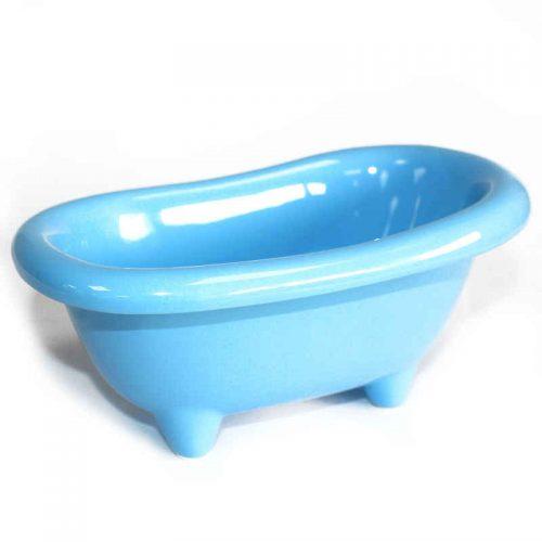 Keramikbadewanne in babyblau