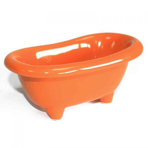 Keramikbadewanne in orange