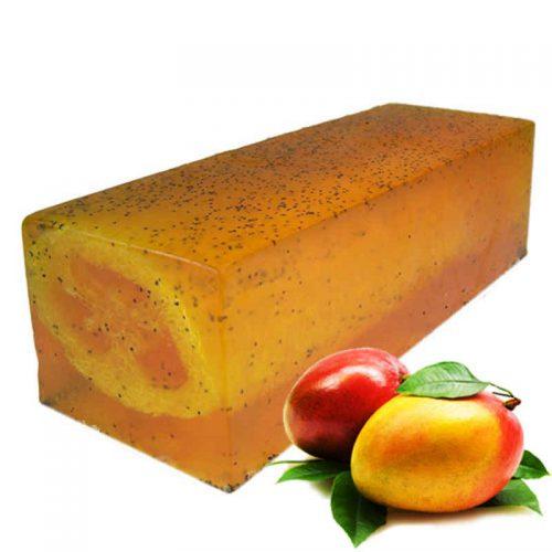 Mega-Mango-Massage Luffa Seife